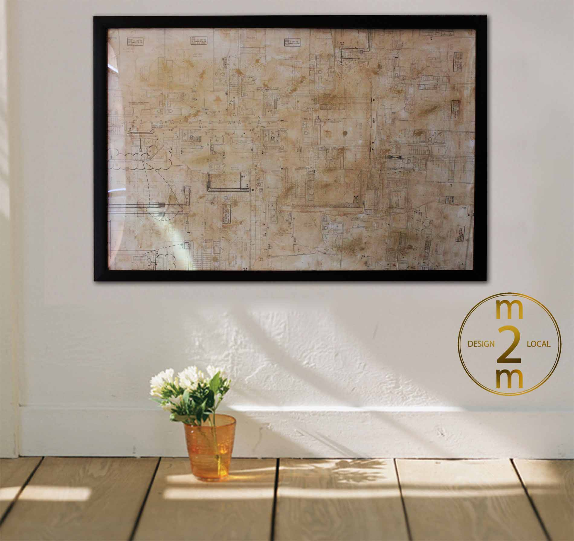 Architectural Wall Art architectural floor plan wall artm2m – m2m design local